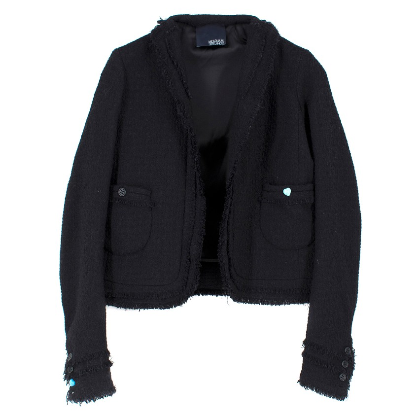 Meadham Kirchhoff Black Tweed Jacket