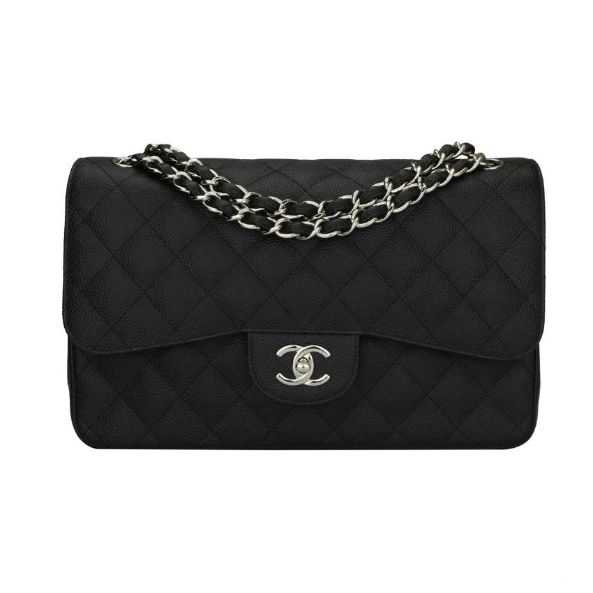 d9b3647c8bf Chanel Classic Jumbo Double Flap Black Caviar Bag | HEWI London