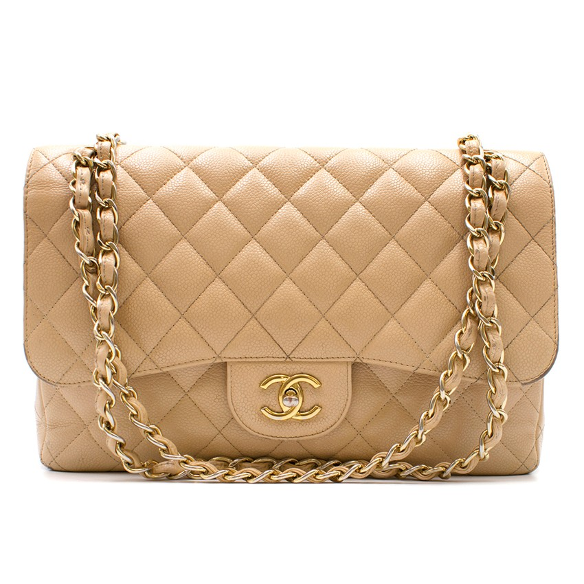 df30f296c8f679 Chanel Beige Quilted Lambskin Small Classic Double Flap Bag | HEWI London