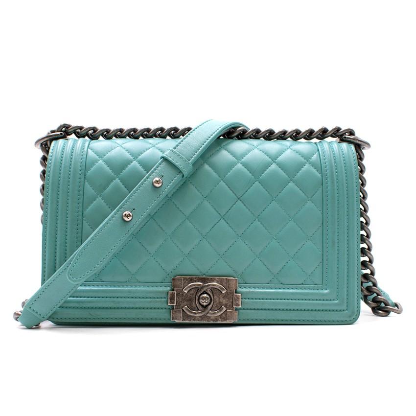 1f0a5772fd80 Chanel Blue Medium Boy Bag
