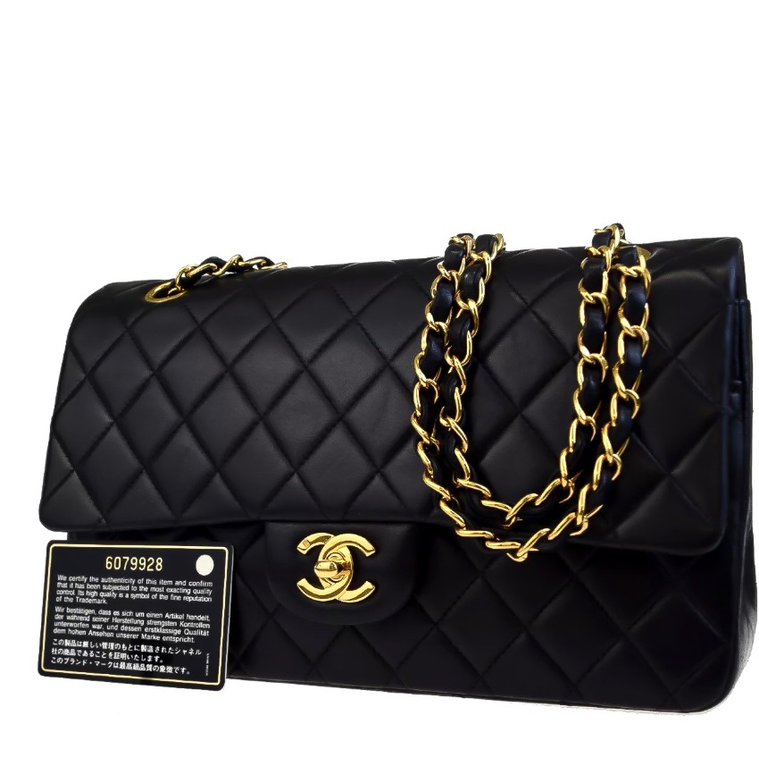 ed263a1b0257 Chanel Quilted 255 Vintage Lambskin Medium Double Flap Bag | HEWI London