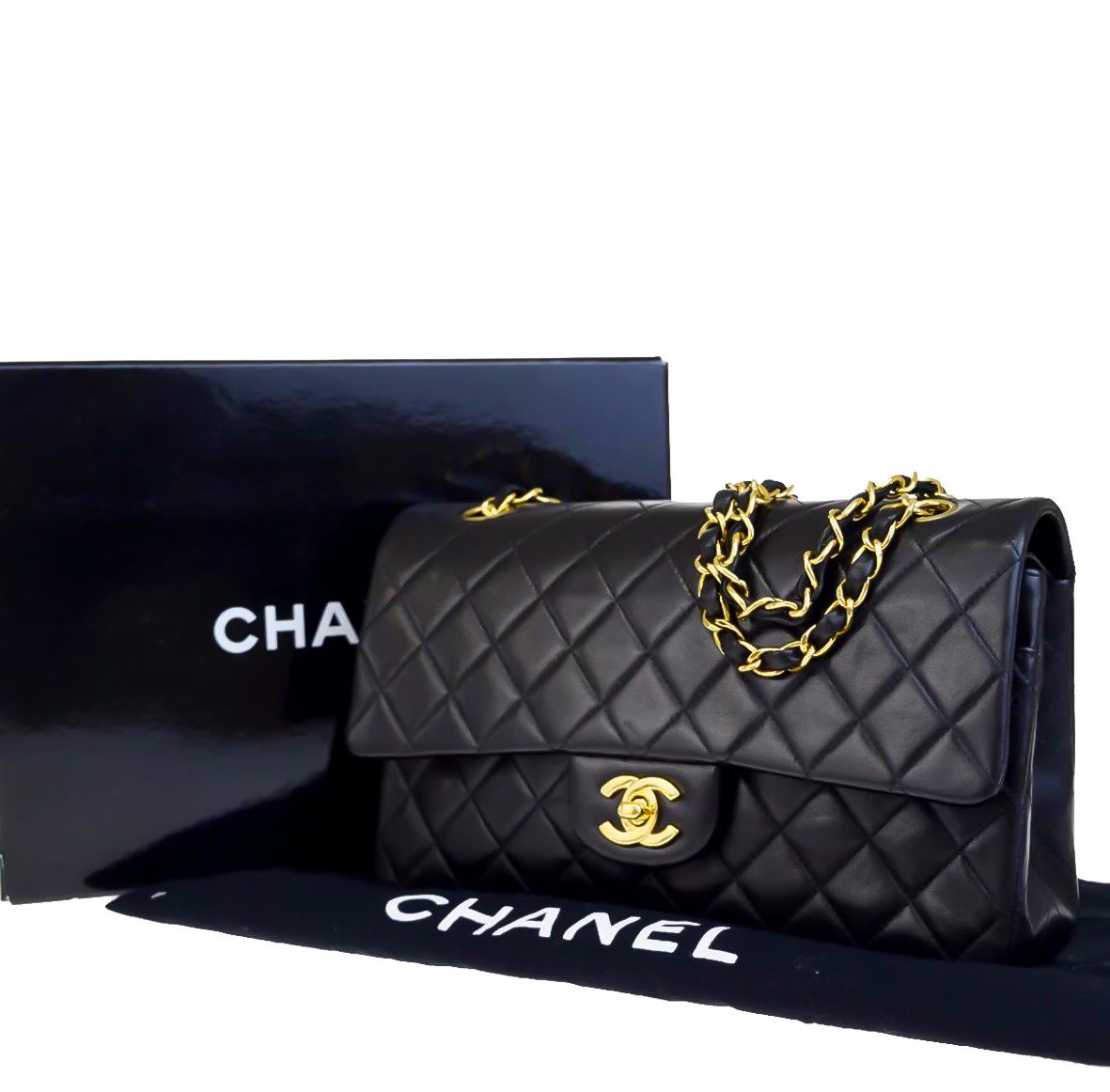 3594df6cc7b6 Chanel Quilted Lambskin 255 Vintage Classic Double Flap Bag | HEWI London