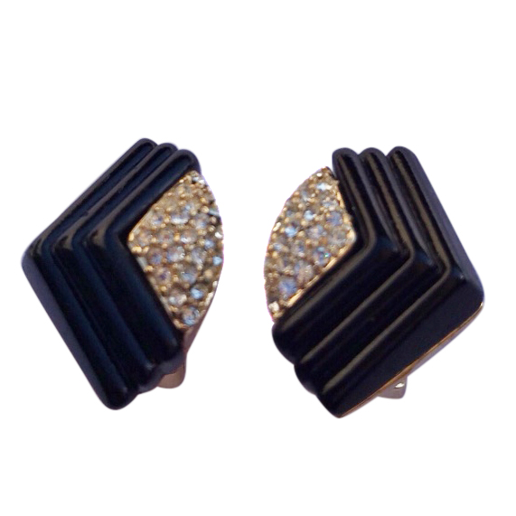Christian Dior Art Deco Style Couture Earrings