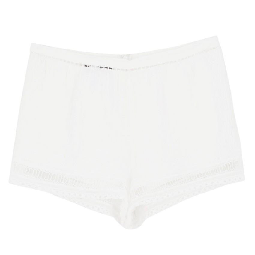 Alberta Ferretti White Linen Shorts