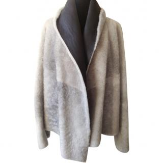 Nicole Farhi Sheared Sheepskin Overcoat