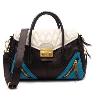 Miu Miu Blue, White & Black Matalasse Bag