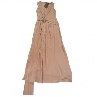 Gucci nude evening gown