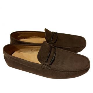 TOD'S  Gommino nubuck driving shoes UK 8.5