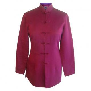 Shanghai Tang Raspberry Pink Silk Jacket