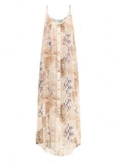 Melissa Odabash 'Ava' Lizard-Print Silk Dress