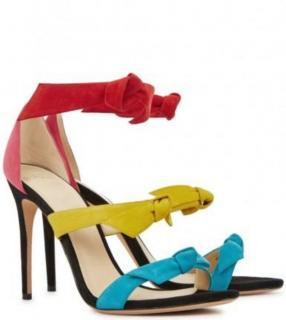 Alexandre Birman multicolored suede Lolita Sandals