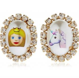 Bijoux De Famille Emoticon Unicorn & Princess earrings