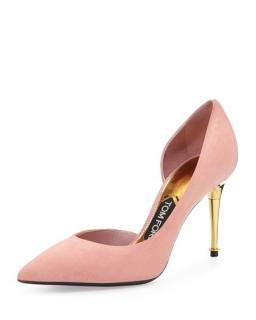 Tom Ford pink suede pumps