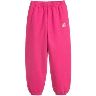 Balenciaga pink girl's joggers