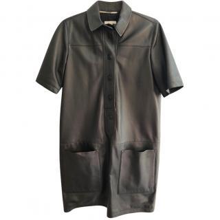 Burberry black leather dress