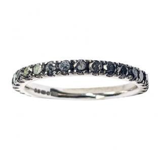 Bespoke Gold & 1.5ct Black Diamonds Eternity Ring