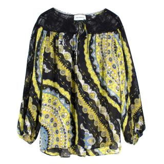 Emilio Pucci Patterned Silk Blouse