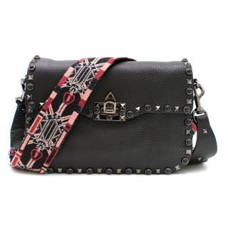 Valentino Garavani Rockstud Rolling Noir Shoulder Bag