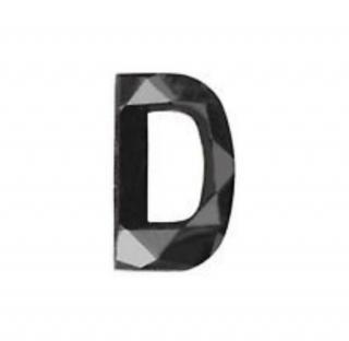 Noritamy 0.15ct Black Diamond Letter D Earring