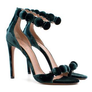 Alaia Bombe 115 Velvet Heeled Sandals