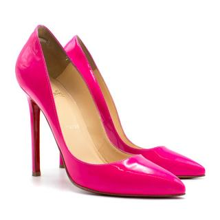Christian Louboutin Pink Pigalle 120 Patent Leather Pump