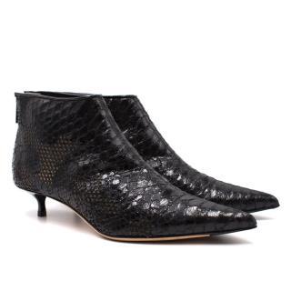 Jimmy Choo Python Black Ankle Boots