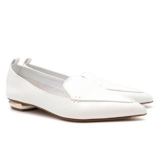 Nicholas Kirkwood White Leather Loafers