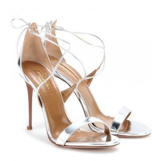 Aquazurra metallic linda sandals