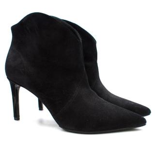 Saint Laurent Black Suede Boots