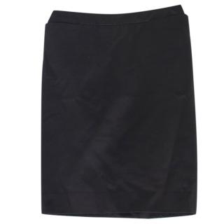 Yves Saint Laurent Black Pencil Skirt