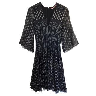 Matthew Williamson Lurex Belted Dress