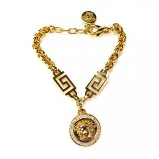 Versace gold chain bracelet