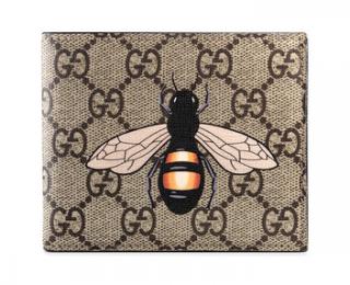 Gucci GG supreme bee wallet