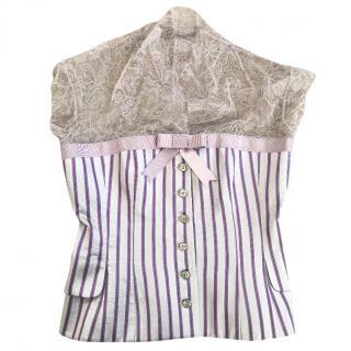Alexander Mcqueen lace corset top