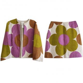 Celine floral pattern skirt suit