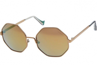 Cutler And Gross  Gold Octagonal Sunglasses
