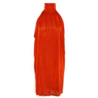 Matthew Williamson Red High Neck Dress