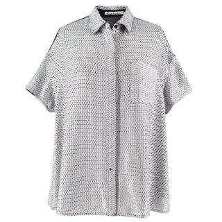 Acne Sequinned Silk Shirt