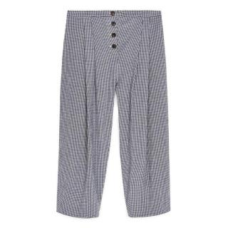 Cabbages & Roses Navy Check Trousers