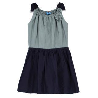 Lanvin Bicolour Flared Girl's Dress