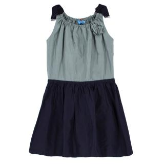 Lanvin Bicolour Flared Girl's Dress