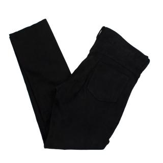 Isabel Marant Black Faux Suede Trousers