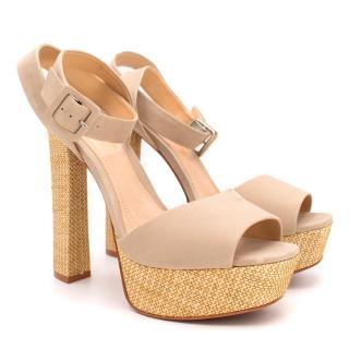 Schutz Amatista Nude Platform Sandals