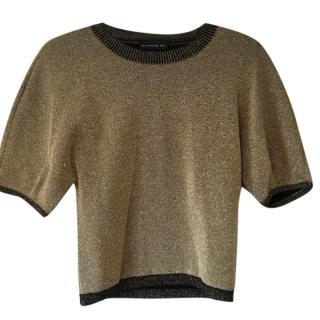 Etro Metallic Gold Milano Top