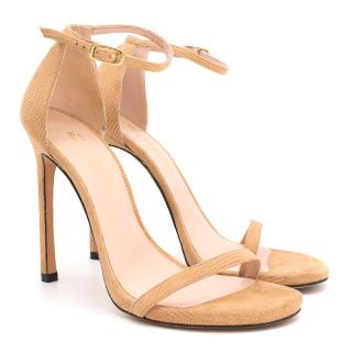 Stuart Weitzman x Russel & Bromley Nude Strappy Sandals