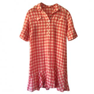Paul Smith Pink Check Summer Linen Dress