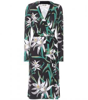 Diane Von Furstenberg Cybil Floral-Printed Silk Dress