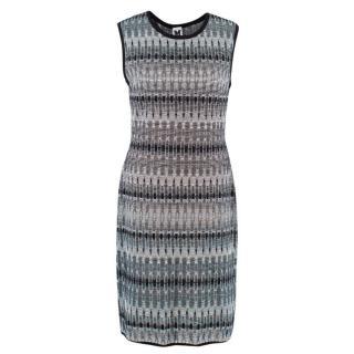 M Missoni Black and White Patterned Dress