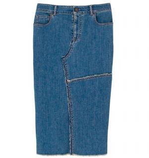 Tom Ford Distressed Denim Skirt