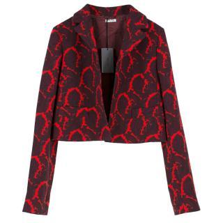Miu Miu Paisley Wool Blazer